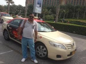 The Taxi in which I toured Dubai.