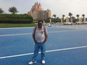 Atlantis in the backdrop.