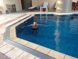 Swim in the morning.