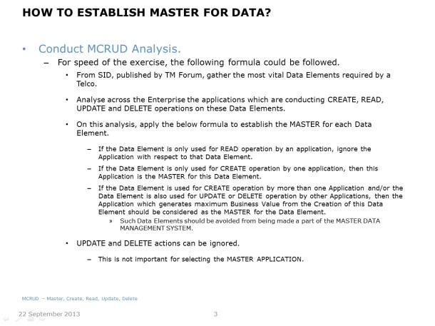Centralising Master Data - Slide 3