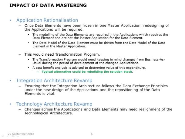 Centralising Master Data - Slide 6
