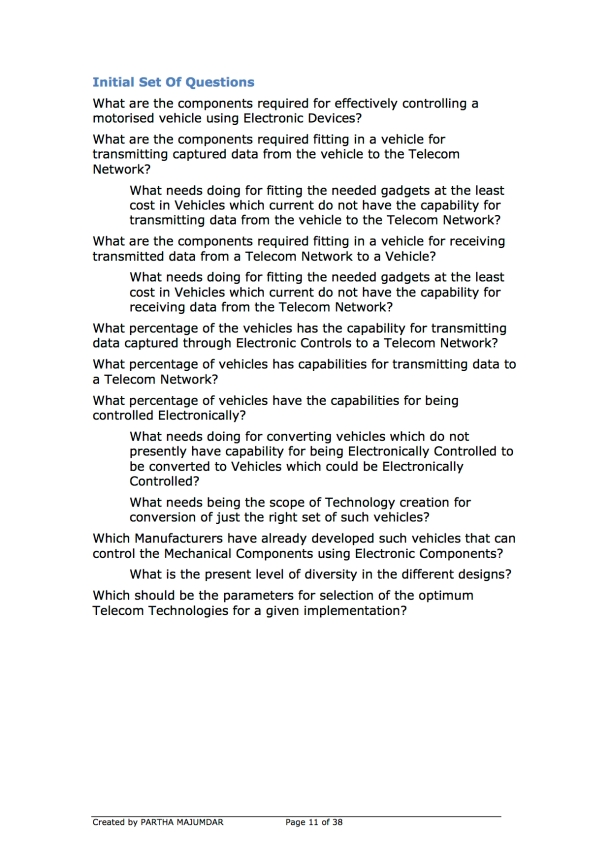 Preventing and or Reducing Road Accidents - Technology + Market + Implementation - Iteration 1 - 20131104 - Page 11